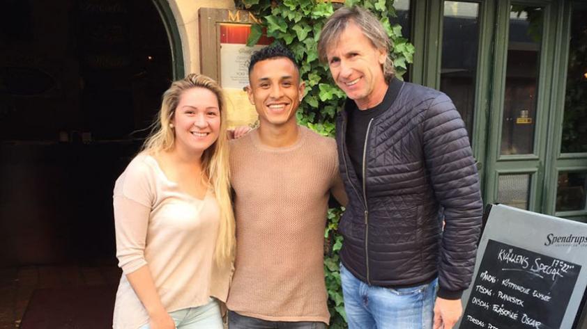 Gareca se reunió con Yotún en Suecia