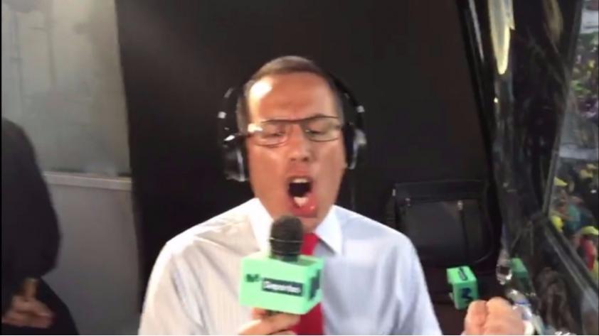 (VIDEO) El emotivo final del triunfo peruano con narración de Peredo desde la cabina de transmisión