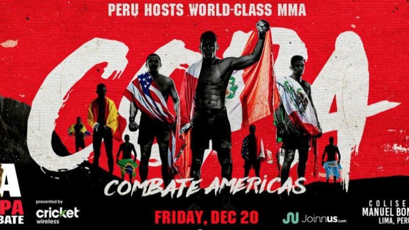 Combate Américas vuelve a Perú: conoce los detalles del evento de artes marciales mixtas