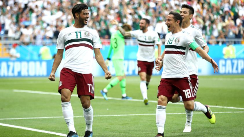 México derrotó 2-1 a Corea del Sur por la segunda fecha del grupo F del Mundial de Rusia 2018