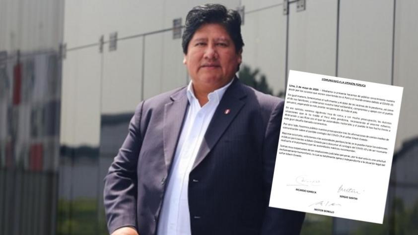 Comando Técnico de la Selección Peruana hace pedido para realizar prueba de COVID-19 a Edwin Oviedo