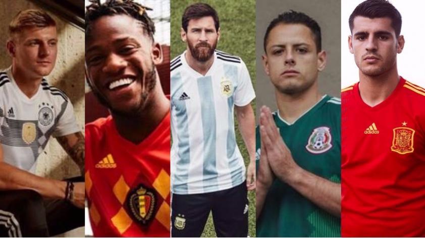 Las camisetas 'retro'  serán la sensación en el Mundial Rusia 2018