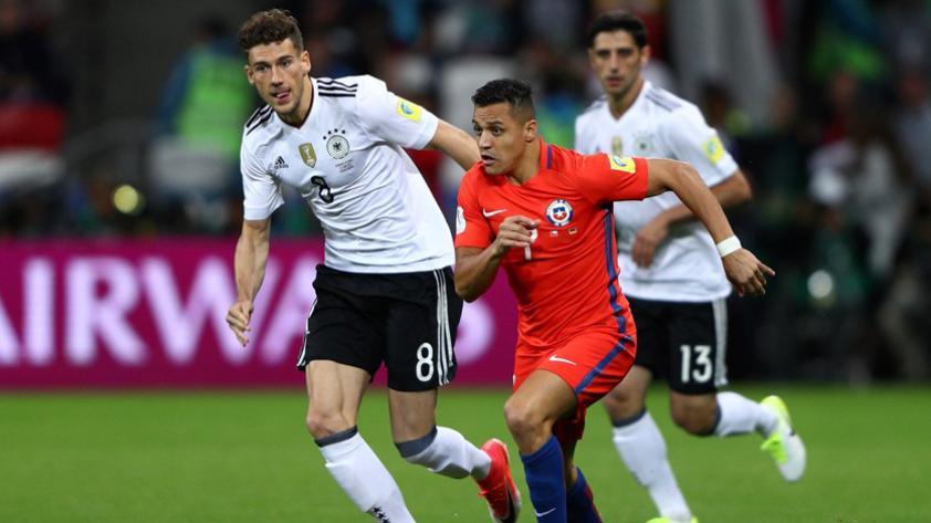 Chile y Alemania igualaron 1-1 en la Confederaciones