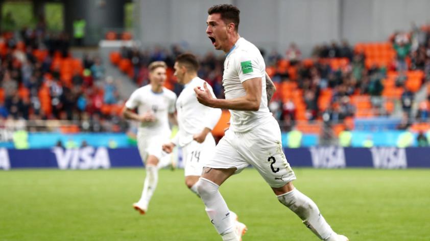 Uruguay derrotó 1-0 a Egipto por la primera fecha del grupo A de Rusia 2018
