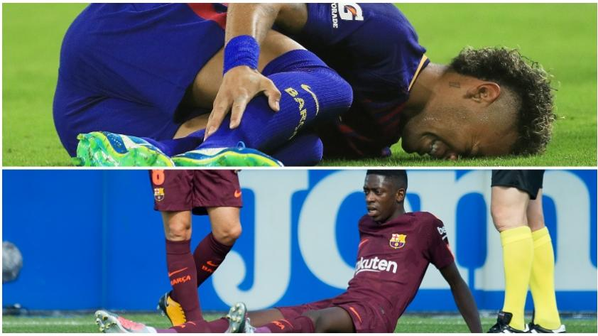 ¿Vale el riesgo? Neymar y Dembélé, jugadores muy propensos a lesiones