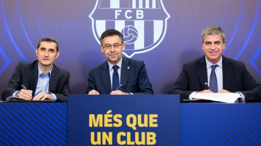 Se queda: Ernesto Valverde renovó con el FC Barcelona