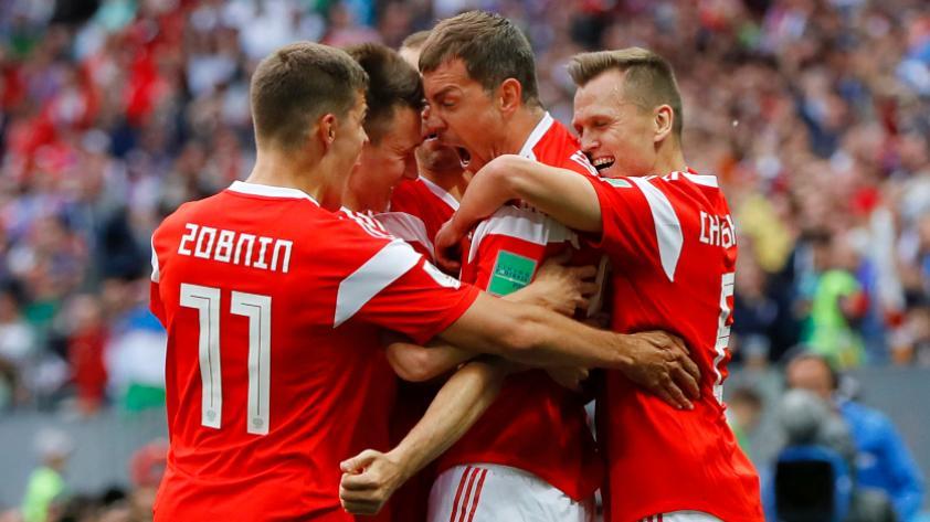 Rusia derrotó 5-0  a Arabia Saudita en el primer partido del Mundial