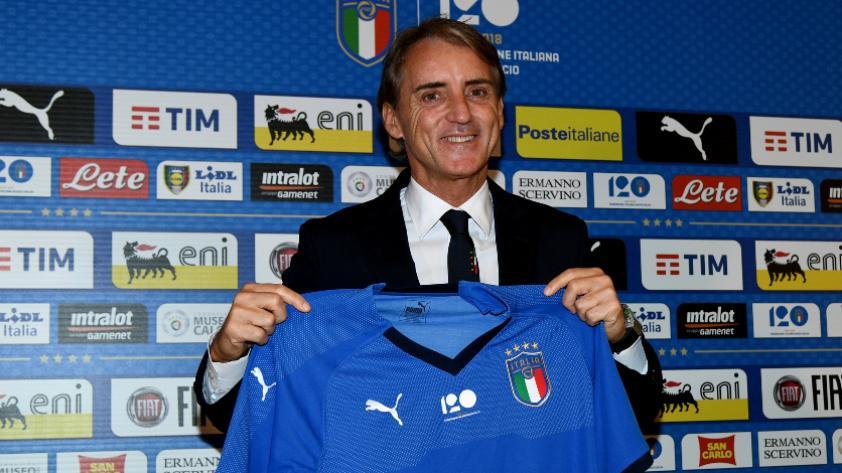 Roberto Mancini fue presentado como nuevo DT de la selección de Italia