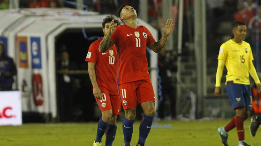 Chile venció a Ecuador por 2-1 en Santiago por la fecha 17 de Clasificatorias Rusia 2018