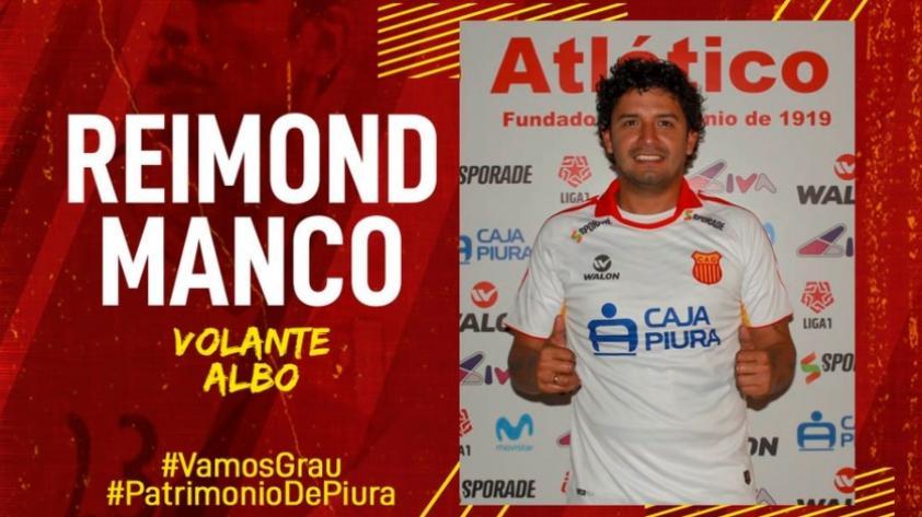 Reimond Manco se convirtió en nuevo jugador de Atlético Grau y ya se encuentra en Piura
