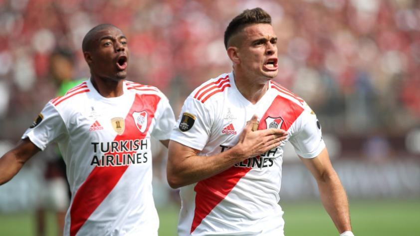 ¡El primero es 'millonario´! Santos Borré marca el primer gol de la final de la Copa Libertadores