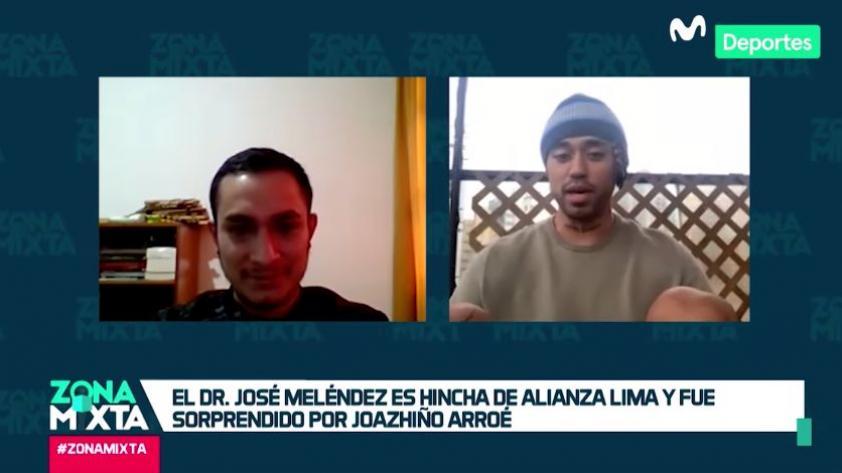 Alianza Lima: Joazhiño Arroé sorprendió a José Meléndez, médico que trabaja en la lucha contra el COVID-19 (VIDEO)