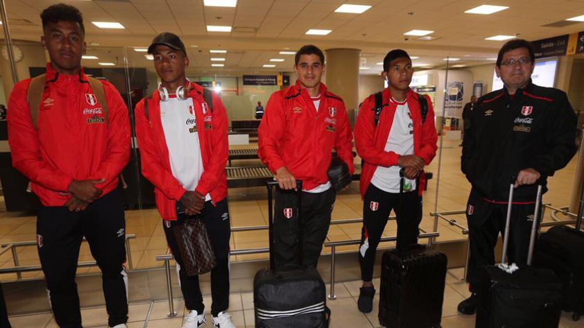 La Selección Peruana llegó a Quito para enfrentar a Ecuador