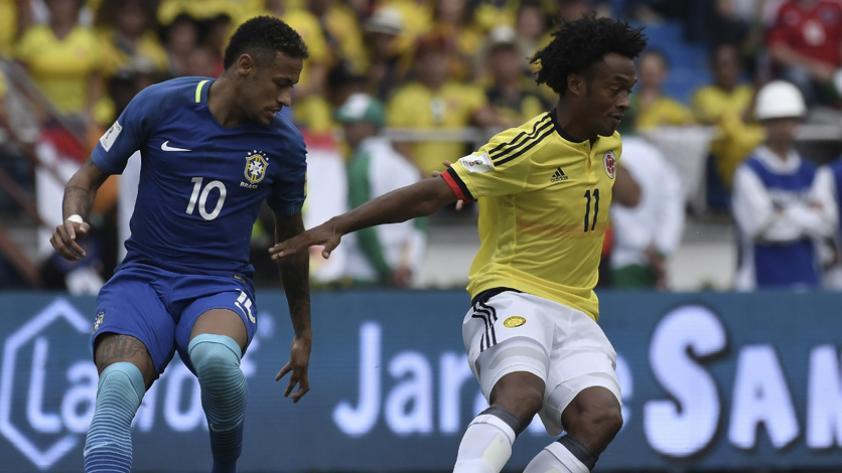 Colombia empató 1-1 con Brasil y se mantiene en la zona de clasificación