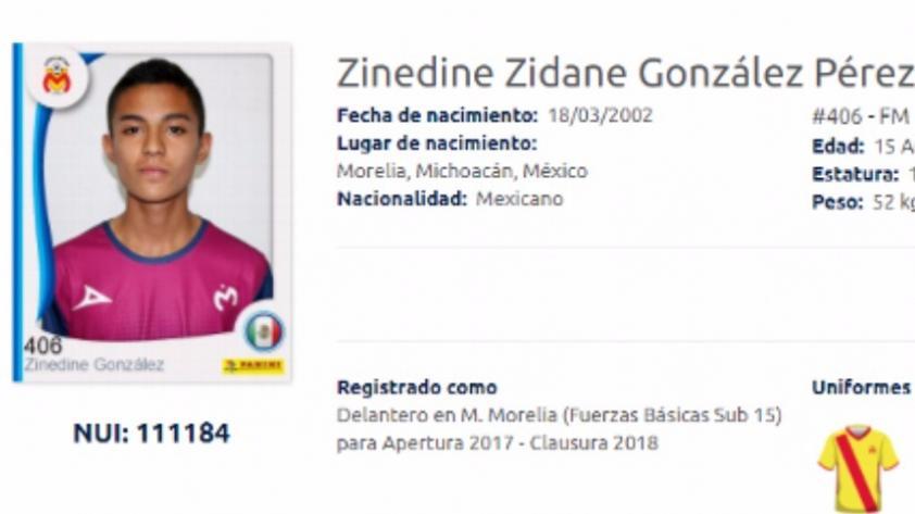 El curioso caso de Zinedine Zidane de México que juega en Monarcas Morelia