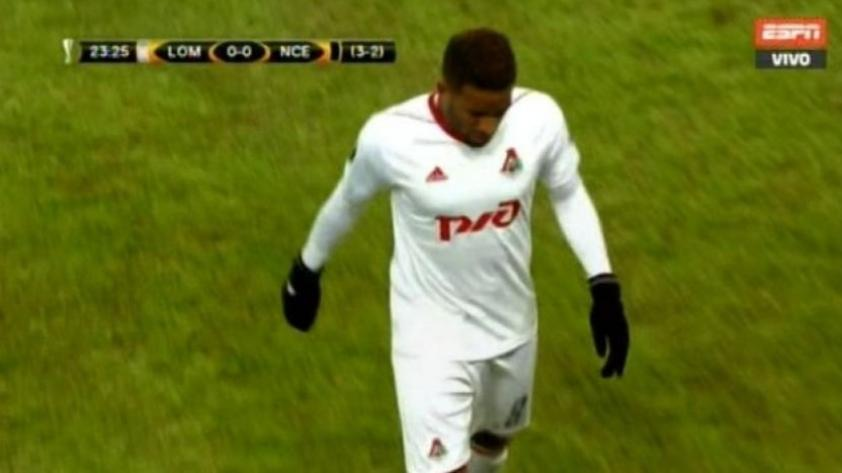 Jefferson Farfán salió lesionado del partido entre Lokomotiv y Niza por Europa League (VIDEO)