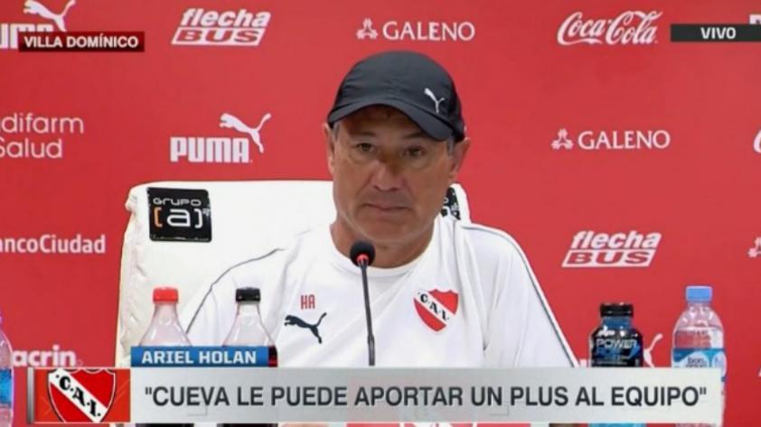 Ariel Holan, DT de Independiente, aseguró que Christian Cueva es el jugador que estaban esperando