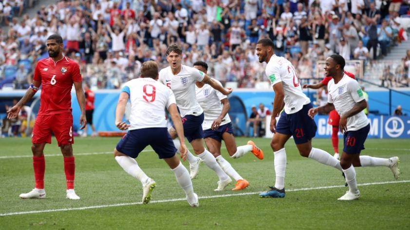 Inglaterra se impuso 6-1 ante Panamá por el grupo G de Rusia 2018