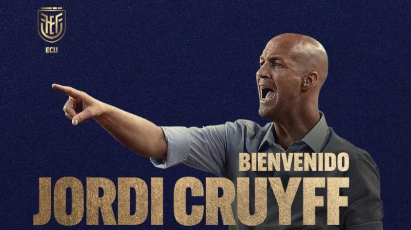 OFICIAL: Jordi Cruyff es el nuevo director técnico de la Selección de Ecuador