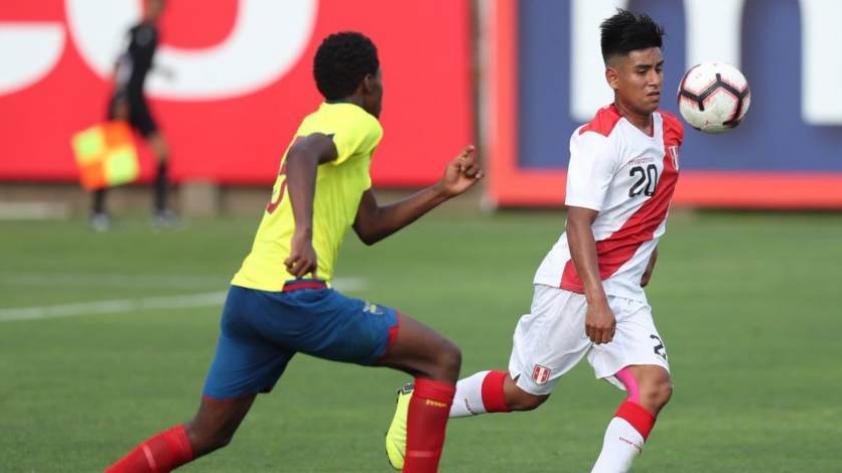 Selección Sub-17 vence por 2-0 a Ecuador en partido amistoso