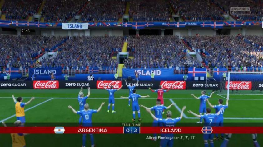 FIFA 18: mira la increíble celebración de Islandia (VIDEO)