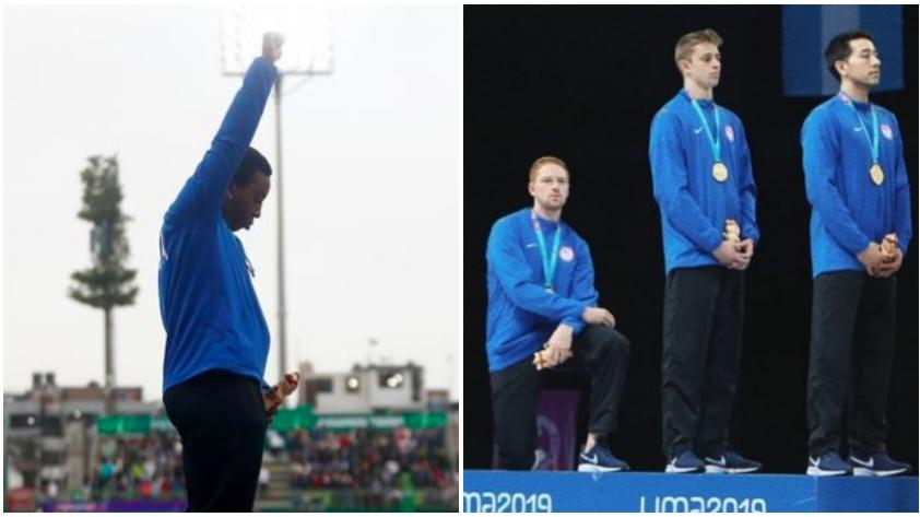 ¿Qué significado tienen los gestos simbólicos de Race Imboden y Gwen Berry durante los Juegos Panamericanos?