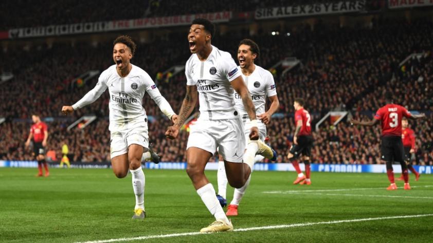 Manchester United cayó 0-2 contra PSG por la ida de los octavos de final de la Champions League