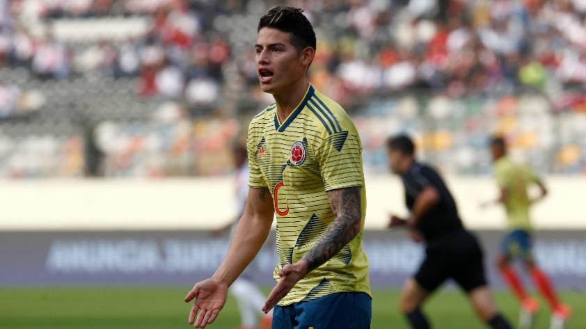 ¡Descartado! James Rodríguez se lesionó y no jugará ante la Selección Peruana