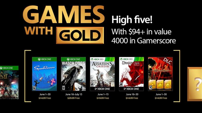 Xbox Games With Gold junio 2017 presentados