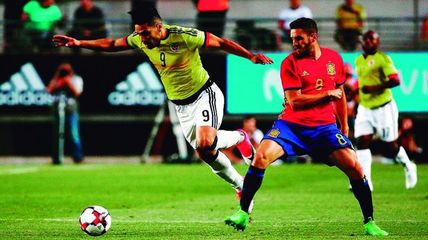 Colombia empató con España en un amistoso en Murcia