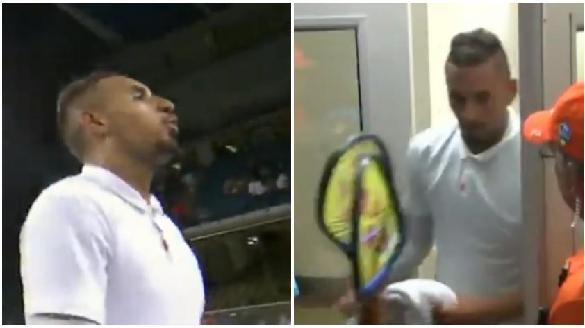 ¡Tranquilo, Nick! El tenista australiano Kyrgios nuevamente presa de su temperamento (VIDEOS)
