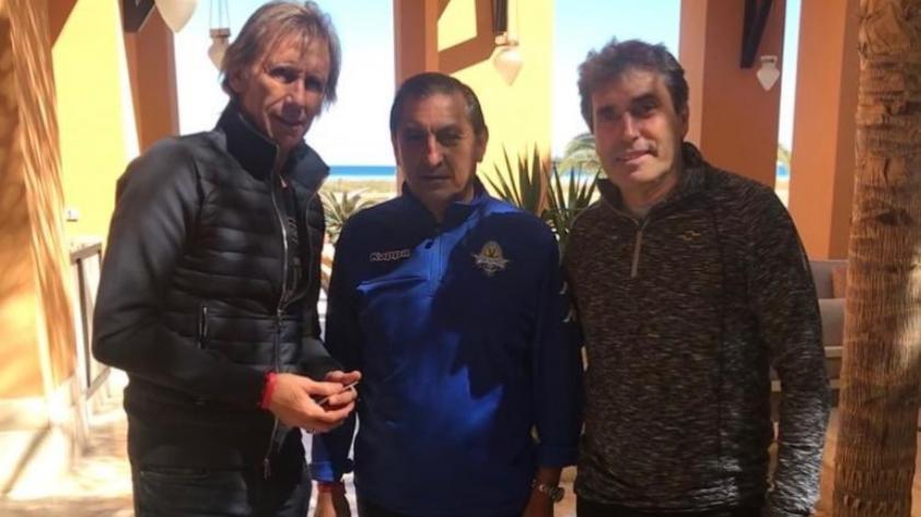 Selección Peruana: Ricardo Gareca se reunió con el entrenador de Cristian Benavente en Egipto
