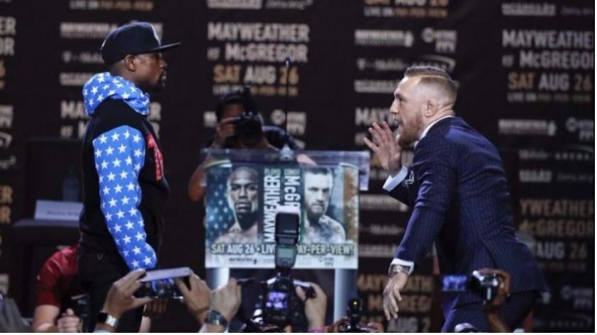 Floyd Mayweather vs. Conor McGregor: el primer 'cara a cara' de los boxeadores (VIDEO)