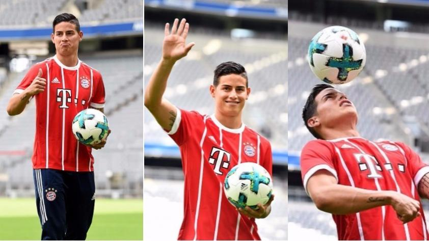 James Rodríguez ya viste la camiseta del Bayern Munich: ¿qué número llevará en la espalda?