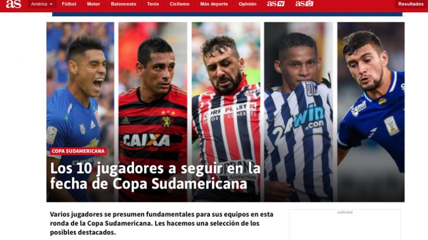 Diario As pone a Kevin Quevedo como un jugador a seguir en la Sudamericana