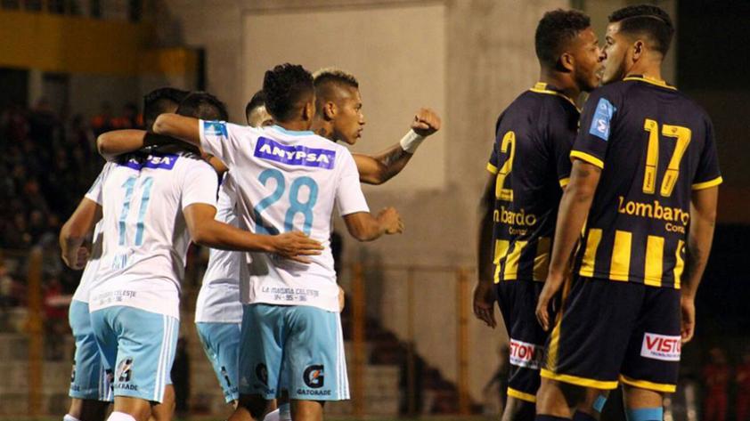 Sporting Cristal derrotó 3-1 a Sport Rosario en Huaraz