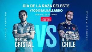 Sporting Cristal enfrentará a la Universidad de Chile por el 'Día de la Raza Celeste'