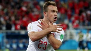 Suiza voltea y gana el partido por 2-1 a Serbia por el grupo E