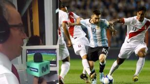 (VIDEO) La emotiva narración en los minutos finales del empate 0-0 entre Argentina y Perú