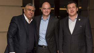 Presidente de la FIFA en Buenos Aires: