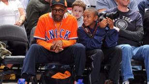 Spike Lee presente con los New York Knicks